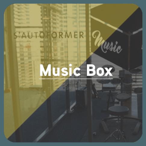 Bouton pour accédez à la page Music Box