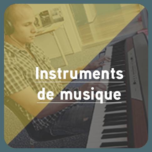 Bouton pour accédez à la page Instruments de musique
