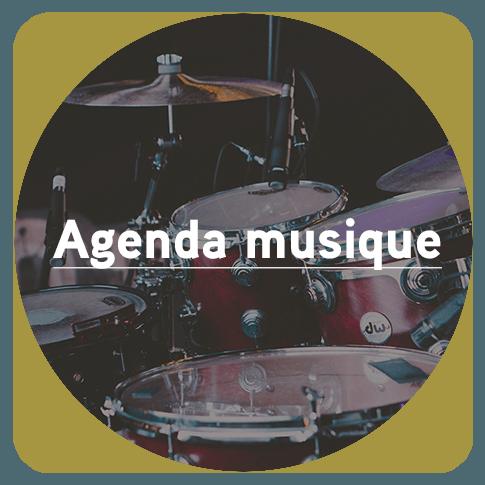 Bouton pour accéder à l'Agenda musique