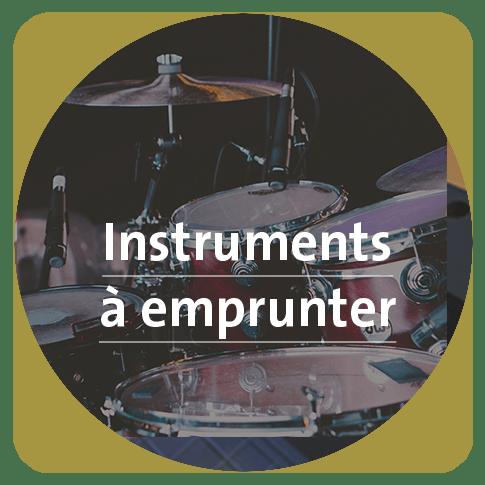 Bouton pour accéder la liste des instruments de musique